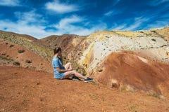 Vallée des paysages de Mars image libre de droits