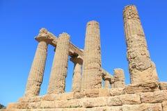 Vallée des temples de la Sicile, Italie Photo stock