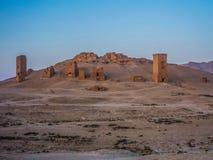 Vallée des tombes dans le Palmyra en automne 2010 photographie stock