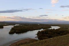 Vallée du fleuve Ienisseï, Sibérie du sud République de la Touva Automne Photo stock
