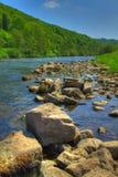 Vallée du montage en étoile de fleuve - montage en étoile - l'Angleterre/Pays de Galles Images libres de droits