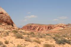 vallée du Nevada d'incendie Image stock