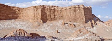 Vallée du panorama #1 de désert d'Atacama de lune Photo stock