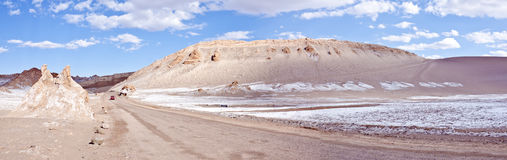Vallée du panorama #2 de désert d'Atacama de lune Image stock
