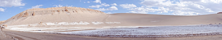 Vallée du panorama #3 de désert d'Atacama de lune Photo stock