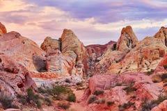 Vallée du parc national du feu au Nevada, Etats-Unis Photo stock