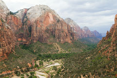Vallée en Zion National Park Photo stock