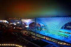 Vallée ensoleillée de boulevard d'expo du monde de Changhaï photo libre de droits