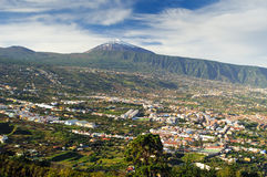 Vallée et volcan Teide (Tenerife) d'Orotava Photo stock