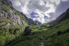 Vallée Glencoe Ecosse de montagne images libres de droits