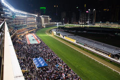 Vallée heureuse de voie de course de cheval Images stock