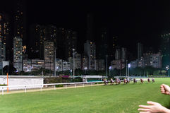 Vallée heureuse de voie de course de cheval Photo stock