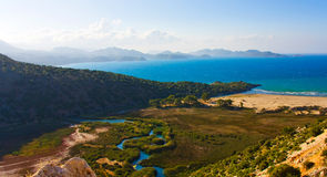 Vallée, la mer Méditerranée, Turquie Images stock