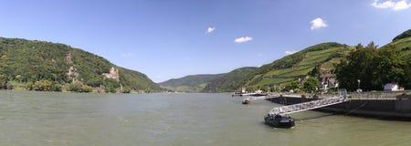 Vallée moyenne du Rhin image libre de droits