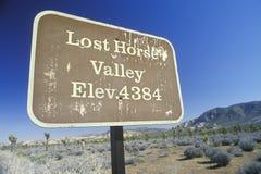 Vallée perdue de cheval Images stock