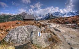 Vallée polonaise de Hala Gasienicowa de montagnes de Tatra Images stock