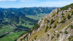 Vallée près d'Oberstdorf Photos libres de droits