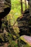 Vallée rocheuse Images libres de droits