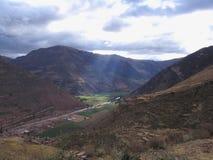 Vallée sacrée d'Inca Images libres de droits
