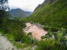 Vallée sacrée de rivière d'Urubamba peru beau chiffre dimensionnel illustration trois du sud de 3d Amérique très Aucune personnes Image stock
