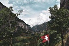 Vallée suisse photographie stock libre de droits