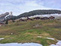 Vallée suisse panoramique Images libres de droits