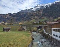 Vallée suisse pittoresque Image libre de droits