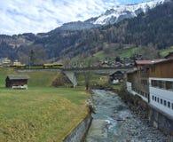 Vallée suisse pittoresque Images stock