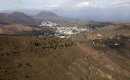 Vallée sur Lanzarote image stock
