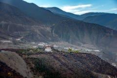 Vallée tibétaine blanche dans une meilleures visite touristique 100 et photographie Photos libres de droits