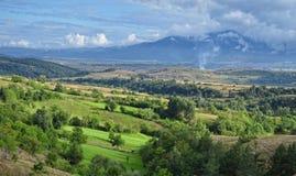 Vallée verte en Bulgarie Photo stock