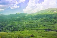 Vallée verte Terrain montagneux, paysage de l'espace ouvert l'arménie Image libre de droits
