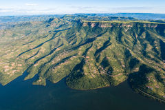 Vallées de côtes de barrage d'air   Images libres de droits