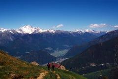 vallées de montagnes Image libre de droits