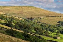 Vallées de Yorkshire près de Cowgill, Cumbria, R-U photos stock