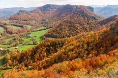 Vall d'en Bas fall landscape in Catalonia Stock Photo