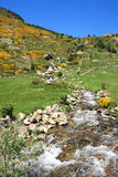 Vall d'Incles (Andorra). Small mountain stream (Vall d'Incles, Pyrenees, Andorra Stock Photography
