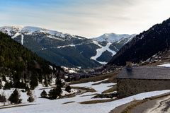 Vall D incles, canillo, Andorra stock fotografie
