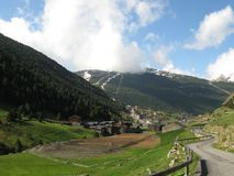 Vall d'Incles and small village in Andorra Stock Image
