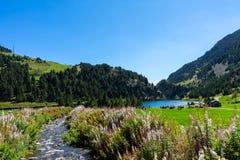 Vall de Nuria στα καταλανικά Πυρηναία, Ισπανία στοκ φωτογραφία