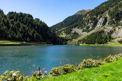 Vall de Nuria στα καταλανικά Πυρηναία, Ισπανία στοκ εικόνες