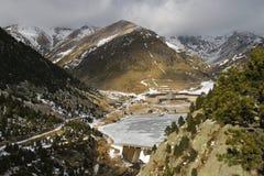 Vall de Nuria en hiver Photos stock