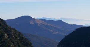 Vall de nuria panorama mountain view 4k spain stock video footage