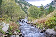 Vall de Nuria  in the Pyrenees Mountains in Catalonia, Spain Stock Photography