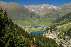 Vall de Nuria Sanctuary, pyrenees, Spain. Vall de Nuria Sanctuary, in the catalan Plan pyrenees, Spain Stock Photos