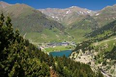 Vall de Nuria Santuário, pyrenees, Spain fotos de stock