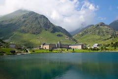 Vall de Nuria Santuário Pyrenees, Spain imagens de stock