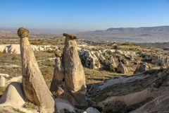 Vall?e de Capadocia chez la dinde photographie stock