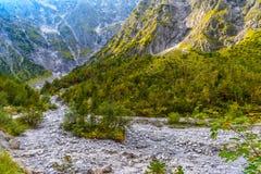 Vall?e de montagnes pr?s de Koenigssee, Konigsee, parc national de Berchtesgaden, Bavi?re, Allemagne photographie stock libre de droits
