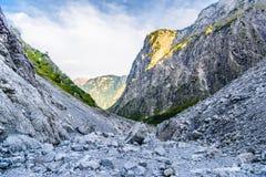 Vall?e de montagnes pr?s de Koenigssee, Konigsee, parc national de Berchtesgaden, Bavi?re, Allemagne image libre de droits